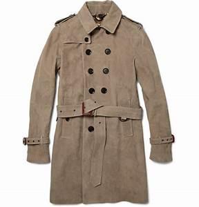 Trench Coat Burberry Homme : burberry prorsum suede trench coat for fall 2011 ~ Melissatoandfro.com Idées de Décoration