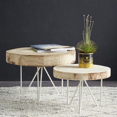 Table Rondin De Bois  Idee Deco  Pinterest  Rondin De