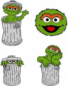 Oscar The Grouch clipart cartoon - Pencil and in color ...