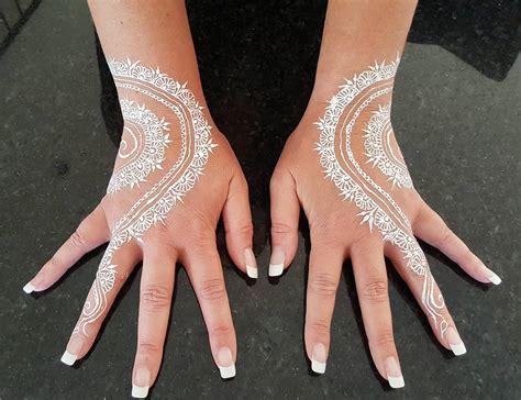 stunning white henna design ideas    love