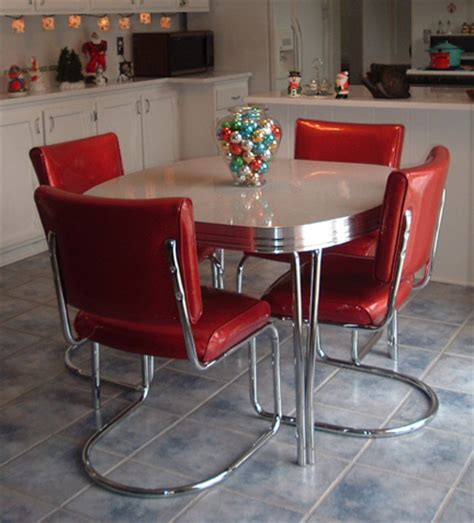 retro kitchen table and chairs walmart vintage dining chairs chair pads cushions