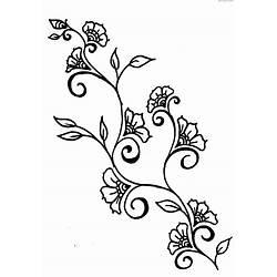 Simple Flower With Vines Drawings Gardening Flower And Vegetables