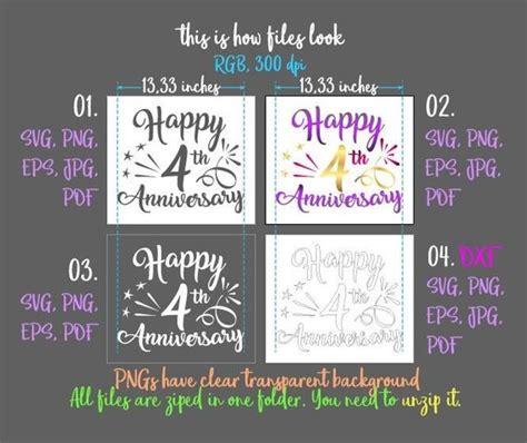 happy  anniversary svg linen wedding  years gift