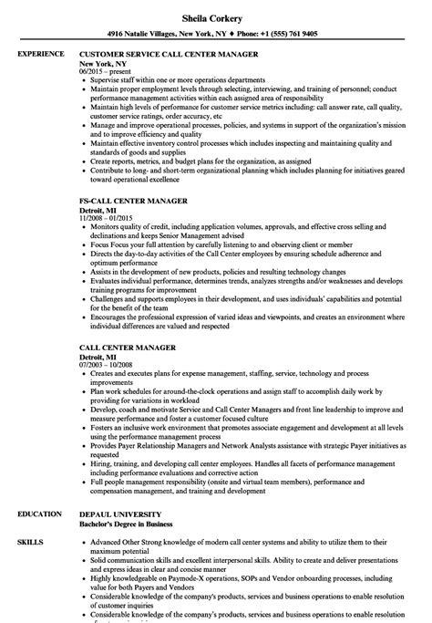 call center manager resume samples velvet jobs