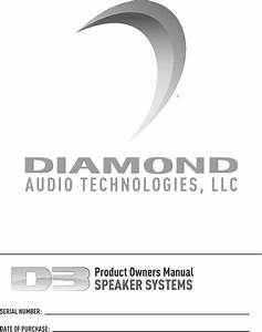 Diamond Audio Technology D3 Component Speaker Systems