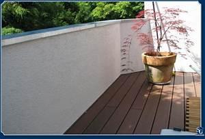 stung With balkon teppich mit tapete mauer