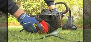 How to Use a string trimmer (weed wacker) for professional