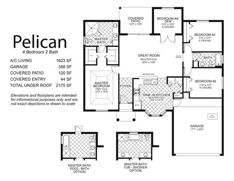 4 bedroom floor plans 2 floorplans