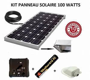 Panneau Solaire 100w : kit panneau solaire 100w pour camping car monocristallin ~ Nature-et-papiers.com Idées de Décoration