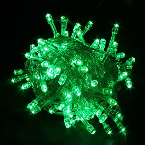 deals 100 led light string green led