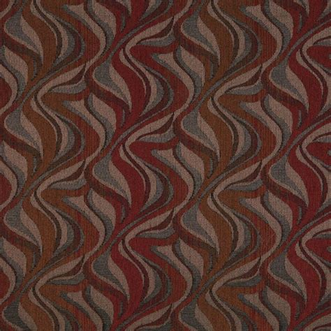 Chenille Upholstery by F191 Brown And Grey Abstract Chenille Upholstery