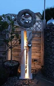 Säulen Aus Holz : gs53 dekos ule f r innen und aussen zum beleuchten gro e gespaltene s ule wei gebeizt aus ~ Orissabook.com Haus und Dekorationen