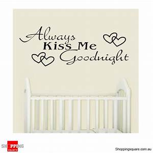 good night kiss removable nursery wall stickers decal home With good look removable wall decals for bedroom