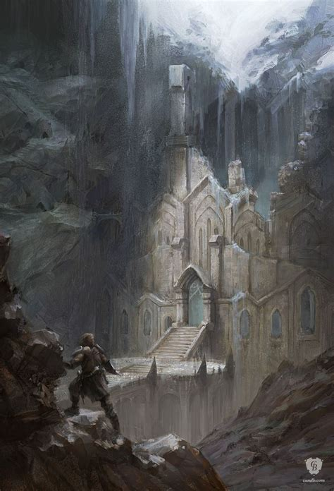 Artwork Snow Elf Temple Skyrim Bethesda Softworks In