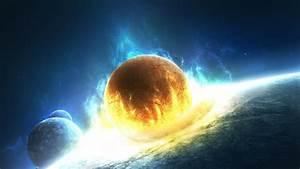 Planets colliding wallpaper - 1034107