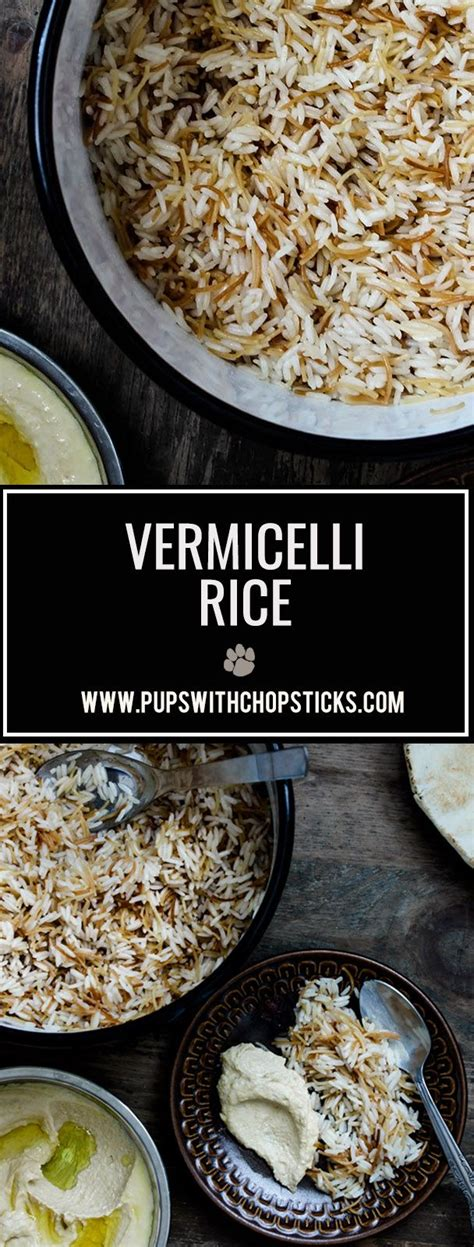 About middle eastern cooking and recipes. Vermicelli Rice | Recipe | Vermicelli recipes, Vegetarian ...