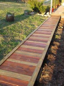 building a wood walkway in backyard