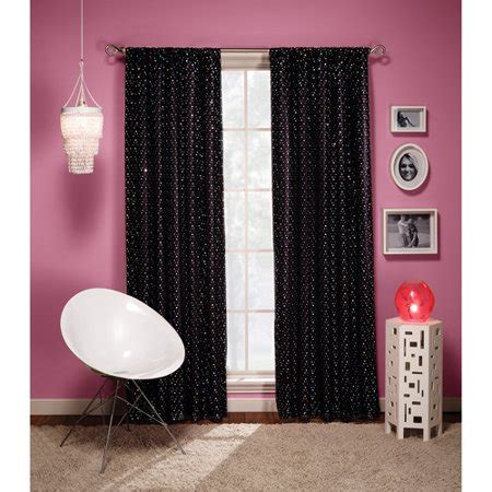 black sequin curtains groovy sequin interlined curtain panel black 84