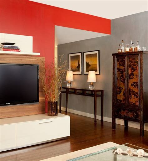 Grey With Red Accent Wall?  Bedroom Makeover Pinterest