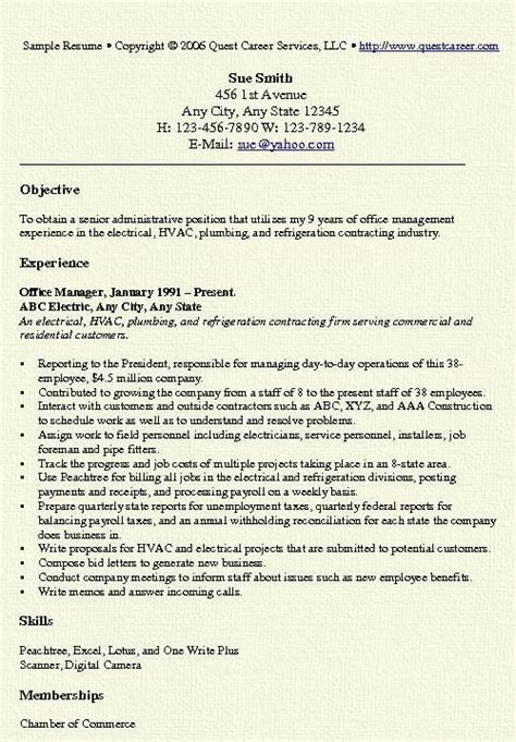Resume For Manager Position by Office Manager Resume Exles Office Manager Resume