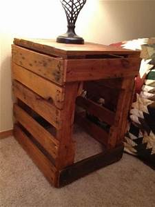 add beauty and decor to room with pallet nightstands 101 With dog crate bedside table