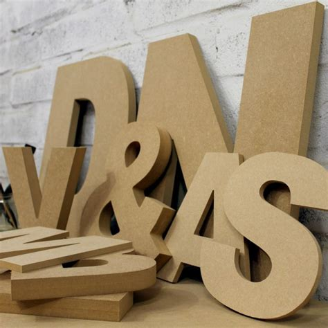 arial black font unpainted mdf wall letters  wooden letters company