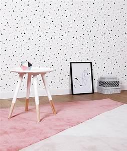 tapis chambre fille geometrique gris et corail lilipinso With affiche chambre bébé avec tapis acupression avis