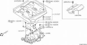 Infiniti Q45 Engine Intake Manifold Gasket  Cover  Exhaust