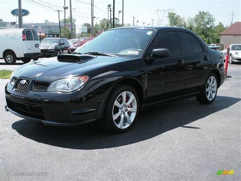 black subaru 2006 obsidian black pearl subaru impreza wrx sedan