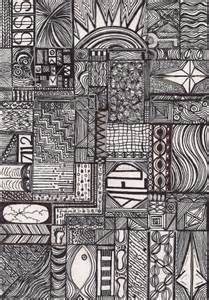 Black and White Abstract Art Drawings