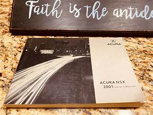 2001 Acura Nsx Owners Manual Only  Original Japan Print