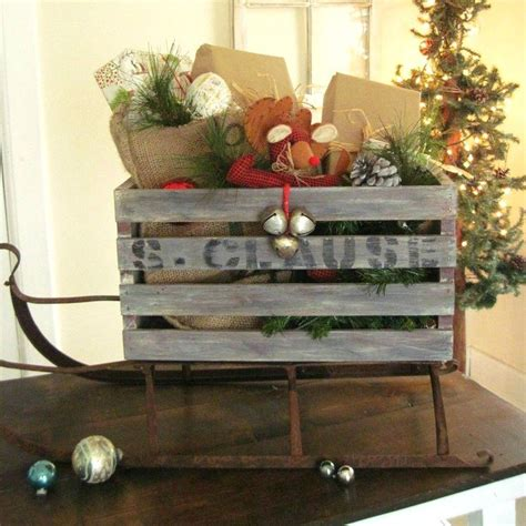 gorgeous ways    plain wooden crate  christmas