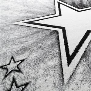 Teppich Grau Mit Stern : kinder teppich jugend teppich modern stern design kinderzimmer teppich in grau kinderteppich ~ Markanthonyermac.com Haus und Dekorationen