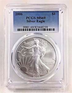 2006 ase 1 pcgs ms69 american silver eagle certified near With american eagle order invoice