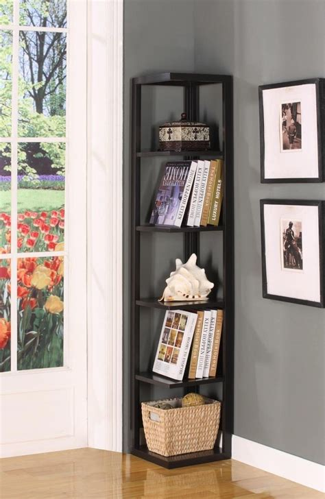 Corner Black Bookcase by Top 12 Amazing Corner Ladder Shelves For Your Home Office