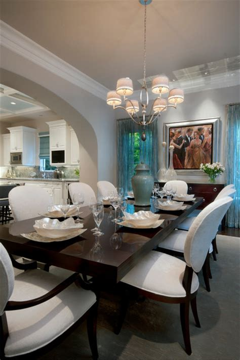 transitional eclectic dining room  metro