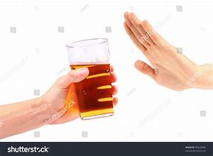 Hand Reject A Glass Of Beer Stock Photo 85624006 ...