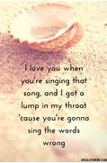 Quotes About Being in ...Love Songs