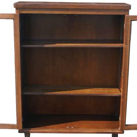 Mid Century Cabinet Ebay by Mid Century Modern Walnut Glass Cabinet Bookcase Ebay