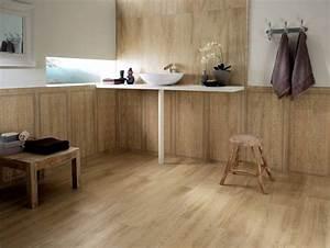 carrelage sol salle de bain imitation bois en 15 idees top With dalle bois salle de bain