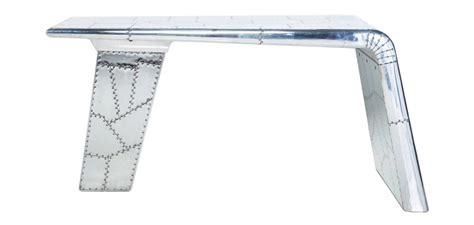 bureau avion aviator airplane wing desk aluminium office tables