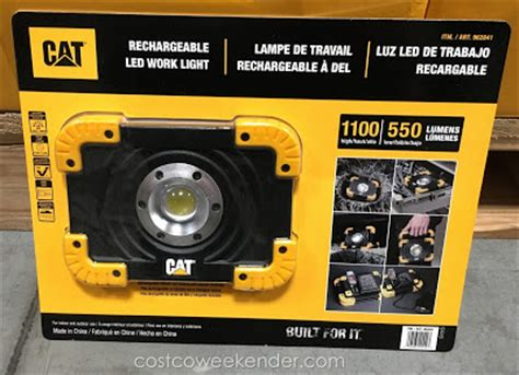 cat work light cat rechargeable led work light costco weekender