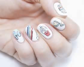 Nail art summer designs polish hand