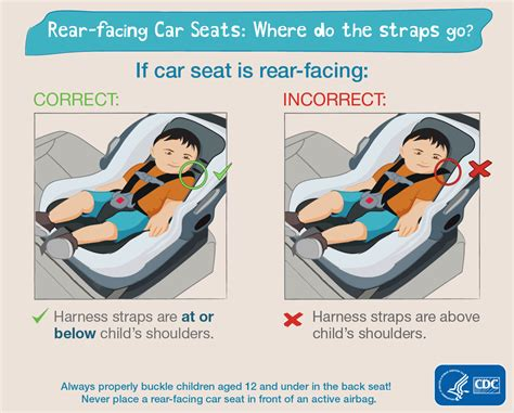 5 Diagrams Of Car Seat Strap Placement That Show Location