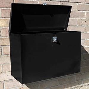 Large Outdoor Lockable Letterbox  Parcel Box  Home Delivery