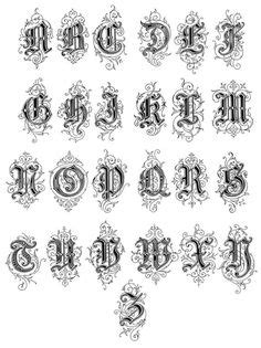 old english lettering | Old English Lettering Tattoos- High Quality Photos and Flash Designs