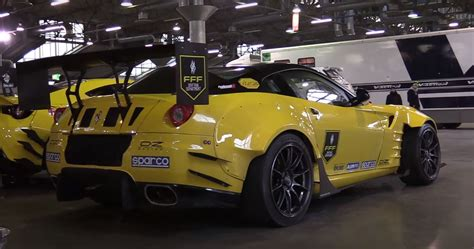 Late after practice at formula drift new jersey, while federico sceriffo's crew worked to replace a cv joint twisted into pieces by the 900 horsepower ferrari 599 drift car behind us, i asked. Ferrari 599 Formula Drift Car with Twin-Supercharged V12 Sounds Bewildering - autoevolution