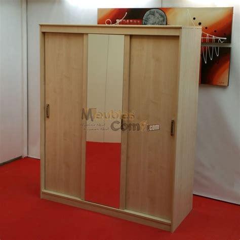cuisine erable armoire 3 portes coulissantes 1 avec miroir couleur