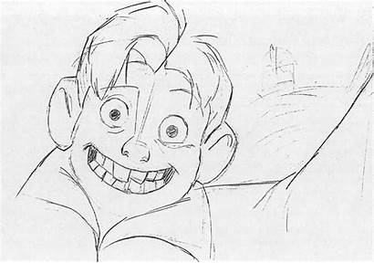 Giant Iron Pages Warner Bros Disney Drawing