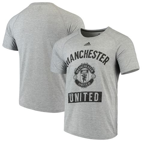 Men's adidas Heathered Gray Manchester United Ultimate ...